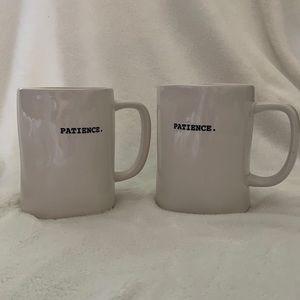 RAE DUNN patience. mug pair